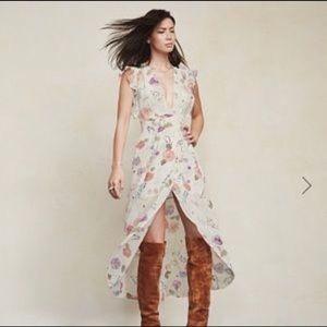 The Reformation Charlene Floral Wrap Dress- L
